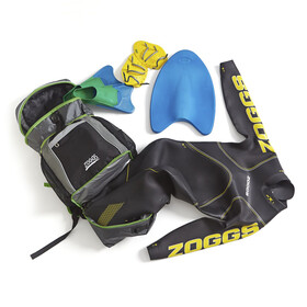 Zoggs Triathlon Bag Black/Grey/Green